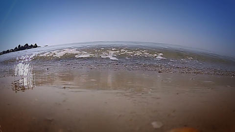 Tidal bore. Lowest point shooting Stock Video Footage