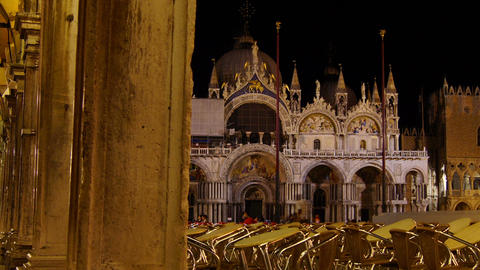 Some attractions of Venice city in Italy, San Marco view Footage
