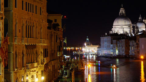 Some attractions of Venice city in Italy, Santa Maria... Stock Video Footage