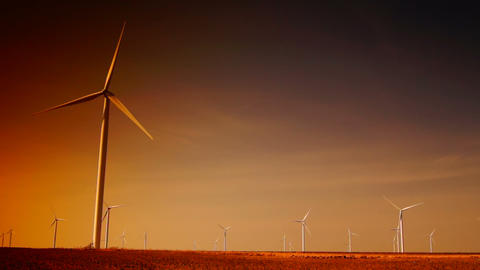 Ecology wind turbines Stock Video Footage