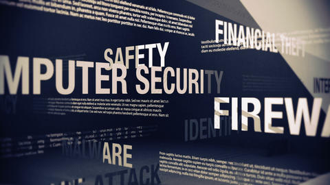Internet Security Related Terms Stock Video Footage