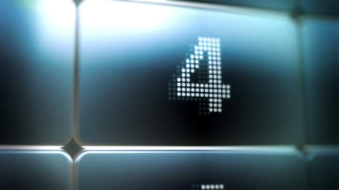 LED Screen Countdown Stock Video Footage