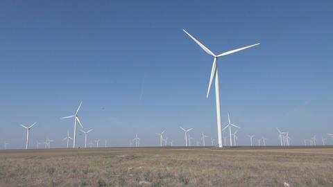 Ecology wind turbines Footage