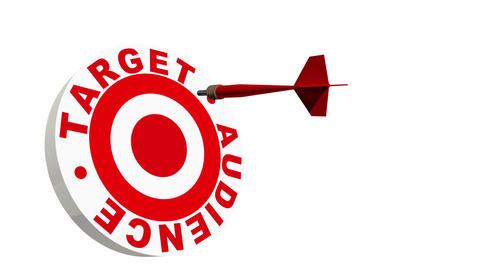 Target Audience 3D Dartboard Stock Video Footage