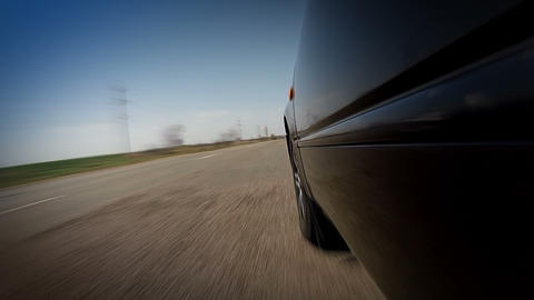 Fast driving on bad road Stock Video Footage