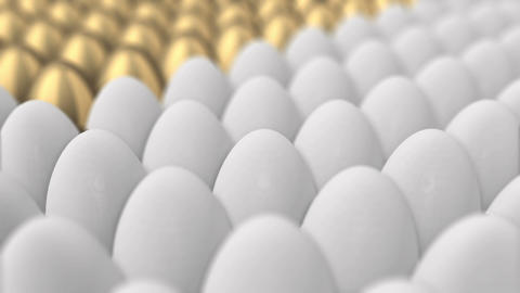 Eggs Turning Into Golden Ones Concept stock footage