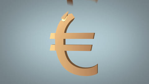 euro sign reconstruction concept over grey Animation