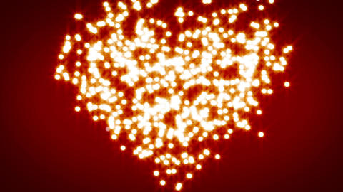 white heart explosion over red background Stock Video Footage