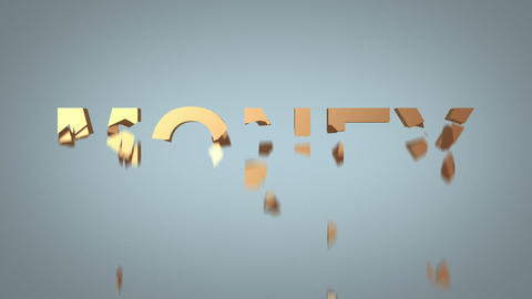 word money destruction concept over grey background Stock Video Footage