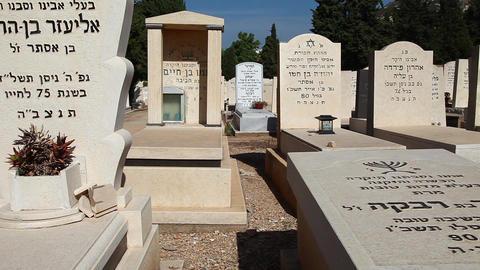 Jewish Cemetery Stock Video Footage