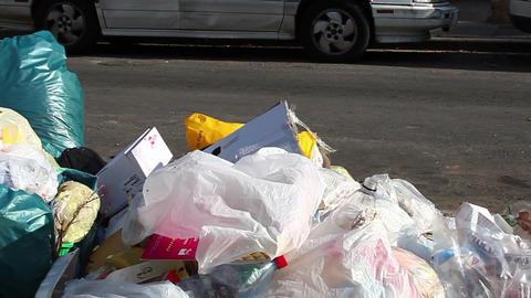 Trash Stock Video Footage