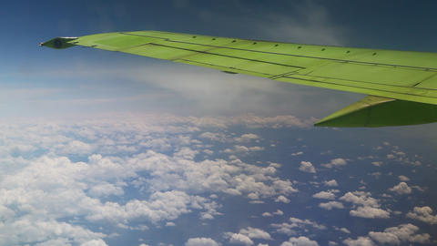 Plane Flies In The Sky 1
