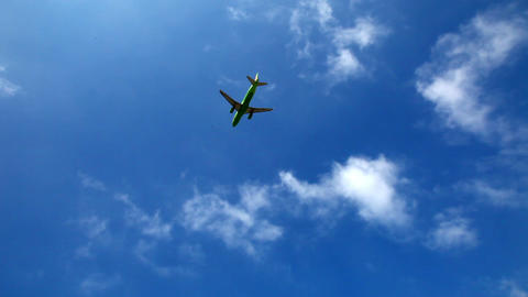 Plane Flies In The Sky 2