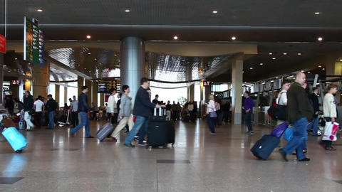 Passengers Are At Domodedovo Airport In Moscow stock footage