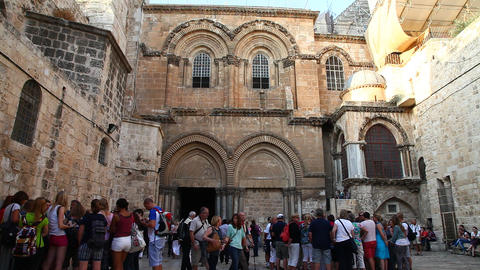 Church Of The Holy Sepulchre November 16, 2012 In Jerusalem, Israel stock footage