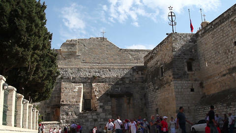 Palestine, Bethlehem, Church of the Nativity Stock Video Footage