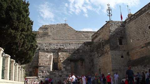 Palestine, Bethlehem, Church of the Nativity Footage