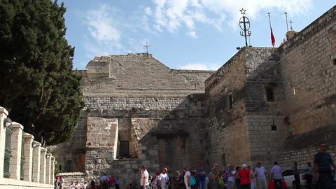 Palestine, Bethlehem, Church of the Nativity Stock Video Footage