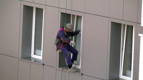 Window cleaning Stock Video Footage