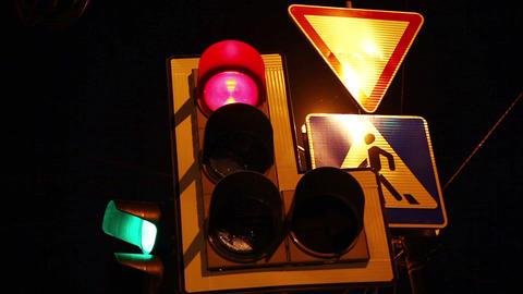 traffic light Stock Video Footage