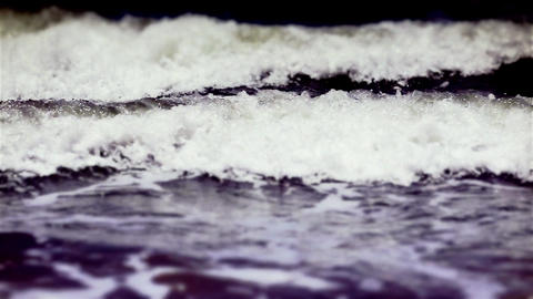 Tilt Shift Ocean Waves stock footage