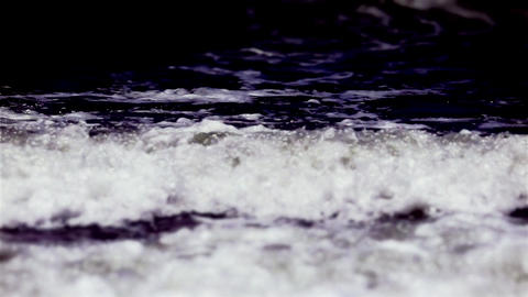 Tilt Shift Ocean Waves Stock Video Footage