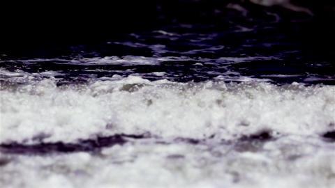 Tilt Shift Ocean Waves Stock Video Footage