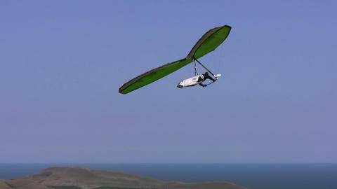 Hangglider in the blue sky Stock Video Footage
