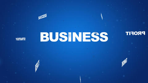 Business Related Words Animation