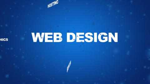 Web Design Related Words Animation