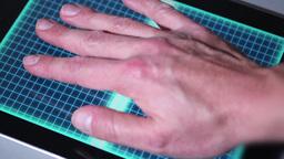 Hand Scanner Denied Stock Video Footage