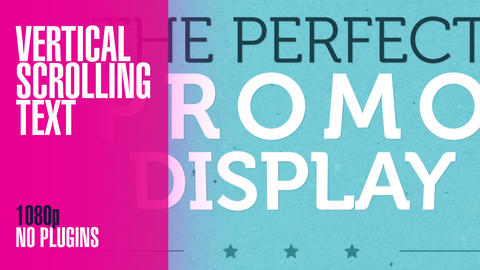 Vertical Scrolling Typographic Promo After Effects Template