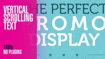 Vertical Scrolling Typographic Promo After Effects Project