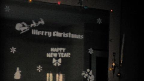 Christmas Nativity Scene 1957 Vintage 8mm film Stock Video Footage