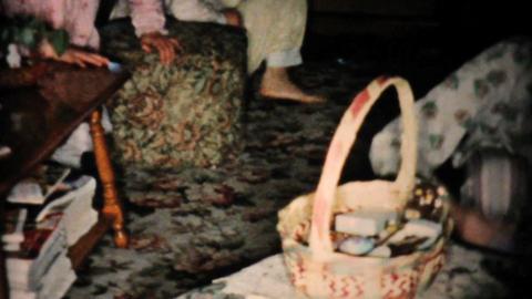 Kids Doing Easter Egg Hunt 1955 Vintage 8mm film Stock Video Footage