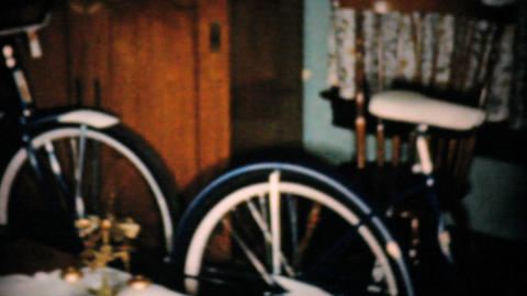 New Bikes For Christmas 1957 Vintage 8mm film Footage