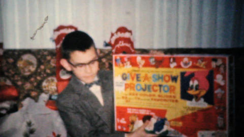 Young Boy Gets Toys For Christmas 1960 Vintage 8mm film Footage
