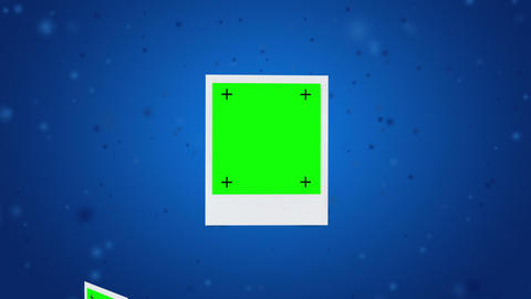 space Polardoid blue Stock Video Footage