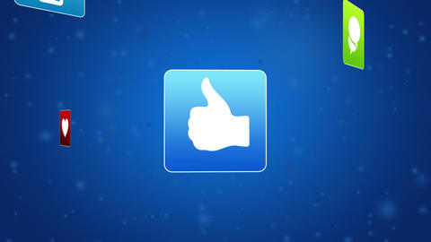 Social Media Icon stock footage