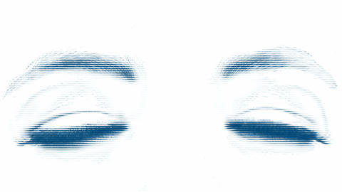 Large eye of the woman. Tinted with strips Stock Video Footage