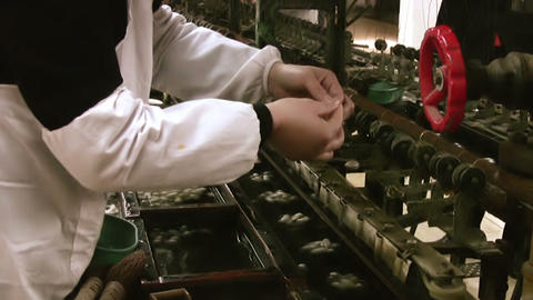 Silk factory Stock Video Footage