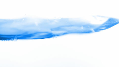 Water, wave, isolated on white background, seamless loop Stock Video Footage