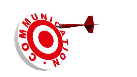 3d Dart Hitting Communication Bullseye Stock Video Footage