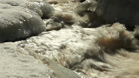 ND filter water stream 4 Stock Video Footage