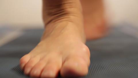 Treadmill, man running on treadmill Footage