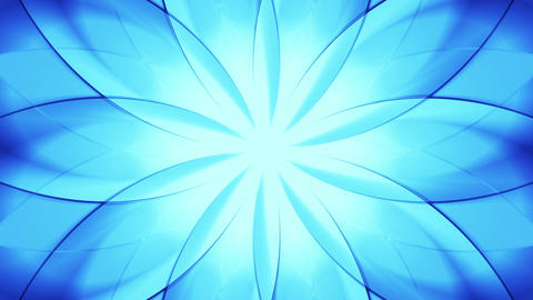 Abstract floral background, blue tint Animation