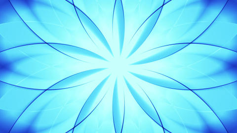 Abstract floral background, blue tint Stock Video Footage