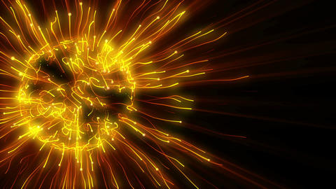 Abstract Gold Plasma Sphere stock footage