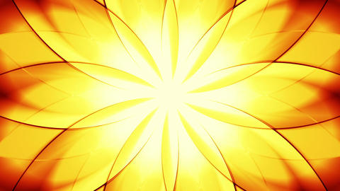 Abstract floral background, gold tint Animación