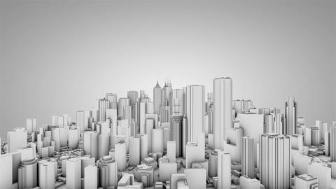 Circling around urban backdrop Stock Video Footage